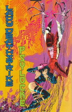 Lady Deathstrike & Psylocke by Michael Golden