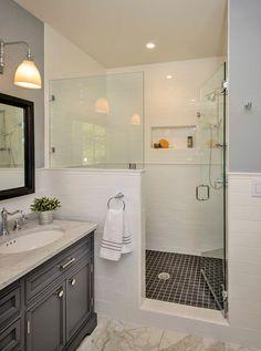 Αποτέλεσμα εικόνας για half wall shower
