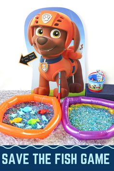 Keep guests busy at your next Paw Patrol party with these themed games and activities from @sorieeevents! We're excited to share this Paw Patrol DIY Zuma Saves The Fish Game you can make yourself. Zuma is the water diving puppy in Paw Patrol. He is called on to help with any water-related missions. Using the magnetic fishing game from Oriental Trading, your party guests will save the fish from shark infested waters.