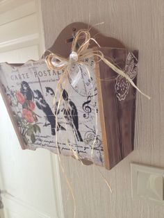 Decoupage, Fabric Painting, Painting On Wood, Shabby Chic Crafts, Gisele, Upcycle, Recycling, Basket, Gift Wrapping