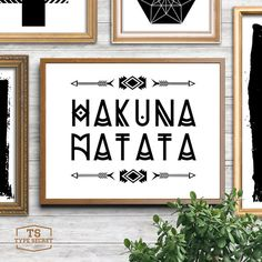 Rustic decor HAKUNA MATATA tribal arrow print nursery tribal decor tribal theme decor Lion King Disney inspired arrows typography poster