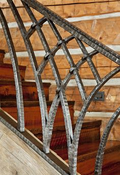 Great rustic detailing on bannister