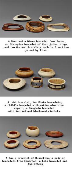 16 old African Ivory Bracelets | via Kunsthaus Lempertz