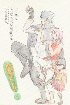 Sasusaku family [by http://www.pixiv.net/member_illust.php?mode=medium&illust_id=49317466]