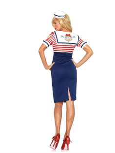 Sexy Sailor Deckhand Diva Adult Costume - Leg Avenue.  Halloween Sailor Costume, Teezers Costumes