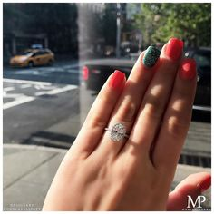 Our Oval InLove Setting with a halo to make your day extra sparkly✨ http://www.marisaperry.com/3-carat-oval-inlove?utm_content=buffer1ecb6&utm_medium=social&utm_source=pinterest.com&utm_campaign=buffer #ovalcut #diamonds #micropave #nyc #meatpacking