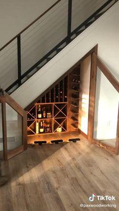 Design Of Staircase, Staircase Storage, Stair Storage, Wine Storage, Bar Under Stairs, Under Stairs Wine Cellar, Wine Cellar Basement, Wine Cellar Modern, Wine Cellar Design