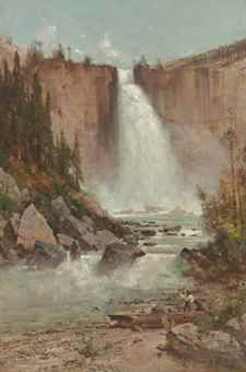 Thomas Hill (1829-1908) Falls of the Yosemite signed and dated 'T. Hill/1888.' (lower right) oil on canvas 30 x 20 in. (76.2 x 50.8 cm.)