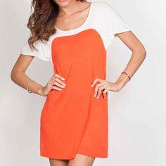 eu.Fab.com | Colorblock Dress Orange
