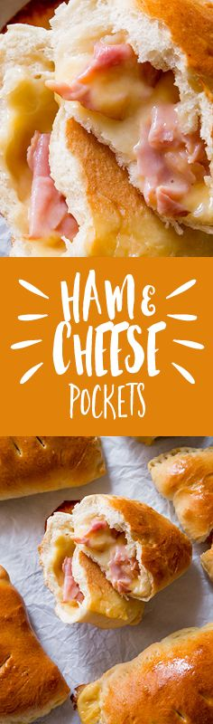 Learn how to make these Homemade Ham and Cheese Pockets with step-by-step recipe and photos. Customize with your favorite fillings!