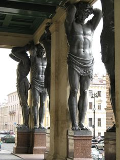 Atlantes-Saint Petersburg-4 - Atlante (architecture) — Wikipédia