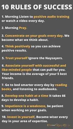 10 Rules of Success-- Success is more than an idea, it is a state of mind. Here are our simple top 10 Rules of success. Quotes Dream, Life Quotes Love, Wisdom Quotes, Quotes Quotes, Robert Kiyosaki, Business Motivation, Business Quotes, Motivation Success, Business Goals