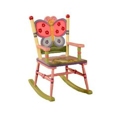 Teamson Magic Garden Rocking Chair (KYW-7499A) Have your children rock with a beautifully themed Magic Garden rocking chair. The beautiful hand crafted and painted art work brings this rocker to life! Hand Painted About Teamson: US based designers http://www.MightGet.com/march-2017-1/teamson-magic-garden-rocking-chair-kyw-7499a-.asp