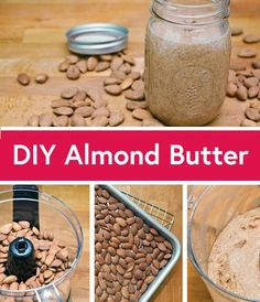 Why buy an expensive jar of almond butter when you can make your own? It's easier than you'd expect. #almonds #nutbutter #almondbutter #diy