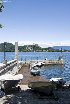 Arona, View on Lake Maggiore, Piedmont, Italy