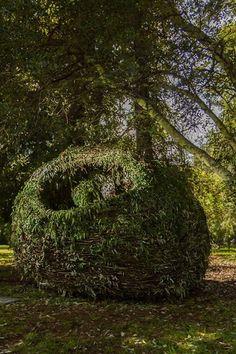 Erynne Ewart-Phipps' 'Nest'. Photo by David Ceruti #JoziLandArt on 5&6 April 2014 #LandArt https://www.facebook.com/JoburgParks