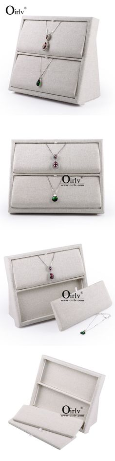 Necklace and Pendant 168162: Oirlv Linen Pendant Necklace Holder Jewelry Display Rack Stand Wood Creative New -> BUY IT NOW ONLY: $38.8 on eBay!