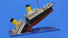 Lego Model of the Titanic Breaking in Half Is Heartbreakingly Beautiful Lego Titanic, Titanic Ship, Rms Titanic, Lego City, Bateau Lego, Bloc Lego, Lego Jedi, Figurine Lego, Lego Boat
