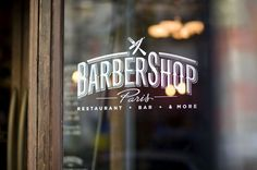 Love this barber shop branding. Window decal typography is lovely... Barbershop | Tyrsa