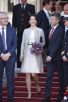 La reine Margrethe II de Danemark célébrait le 8 avril 2015 à Aarhus son 75e anniversaire (en...