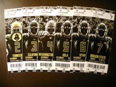 Oregon Ducks 2013 NCAA football ticket stubs - One ticket | eBay