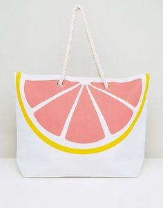 ad60d166c3 South Beach Pink Grapefruit Beach Bag - Multi Pink Grapefruit