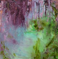 """Archival Print of Original Oil Painting """"Wisteria Concerto in Lilac and Lime''"""