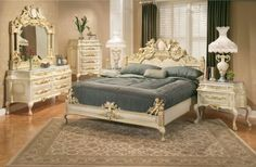 I love this bedroom set. Completely impractical for my room but lovely none the less