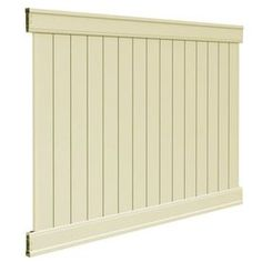 FREEDOM�Contractor Sand Flat-Top Privacy Vinyl Fence Panel (Common: 72-in x 8-ft; Actual: 72-in x 90.375-ft)