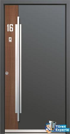 shared by www. Front Door Paint Colors, Painted Front Doors, Exterior Front Doors, Entry Doors, Door Design, House Design, Hotel Door, Flush Doors, Steel Doors