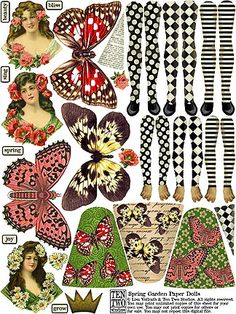 Spring Garden Paper Dolls Two Ten Studios
