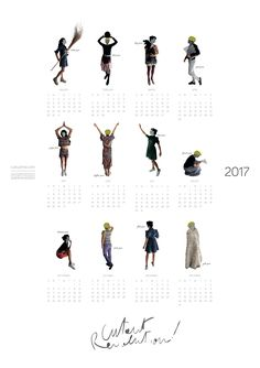 Cutoutmix : cutout people calendar collection by francesca perani and claudia manenti www.cutoutmix.com