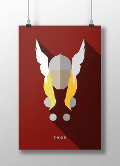 Thor by Moritz Adam Schmitt Marvel Comics, Anime Comics, Marvel Heroes, Marvel Avengers, Hero Squad, Flat Design Poster, Marvel Paintings, Asgard, Marvel Wallpaper