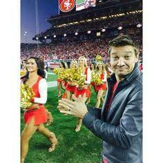 Jeremy Renner 49ers game