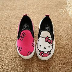 fa0371a42 2017 Spring/Summer 3 Colors Baby Girls Boys Anime Cartoon Mickey Hello  Kitty Children Sneakers Kids Canvas Flat Casual Shoes