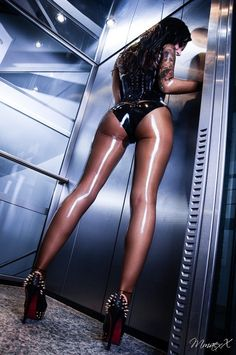 Pantyhose and latex