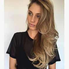 Blowout Hairstyle Adorable Great Color   Hair  Pinterest  Blowout Hair Blondes And Makeup