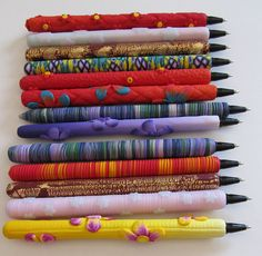 Polymer clay pens by AA