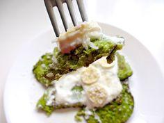 Zielone, twarożkowe placuszki na słodko