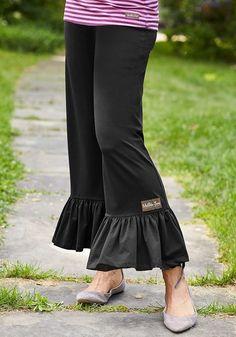 8314f4dc5dd3 NWT Matilda Jane Womens M Black Big Ruffles Pants  fashion  clothing  shoes