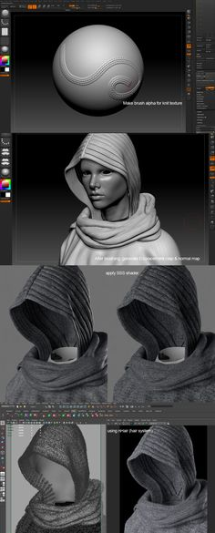 Zbrush Tutorial Making A Realistic Portrait Of Sylvia Zbrush Character, 3d Model Character, Character Modeling, Character Art, Zbrush Tutorial, 3d Tutorial, Digital Art Tutorial, Blender 3d, Digital Sculpting