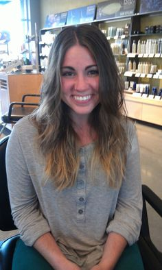 Razor cut for the messy texture that's in right now! By Ashley Bean