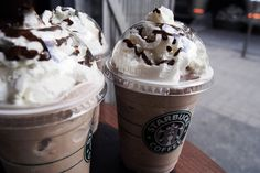 Starbuck's Double Chocolaty Chip Frappuccino: I crave these on a nearly daily basis. It makes me happy that they have coffee-free things for me to enjoy.