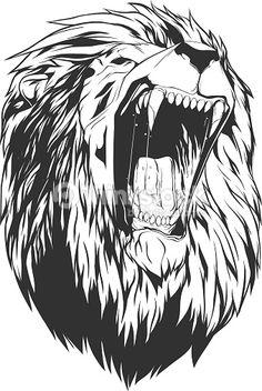 Vector Art : Vector illustration with lion head
