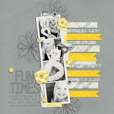 "#Papercraft #scrapbook #layout.  ""Fun Times"" by 4noisyboys, as seen in the Club CK Idea Galleries. #scrapbook #scrapbooking #creatingkeepsakes"