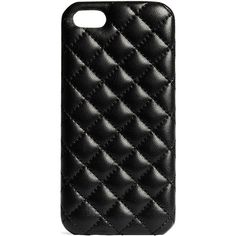 The Case Factory Quilted leather Iphone 5 cover (66 CAD) ❤ liked on Polyvore featuring accessories, tech accessories, phone cases, phone, cases, iphone and black