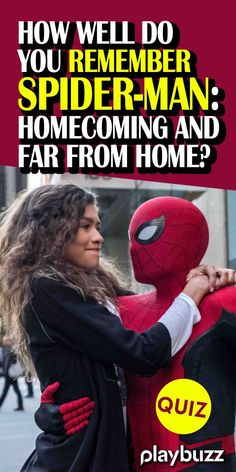 QUIZ: How well do you remember Spider-Man: Homecoming and Far From Home? *** #PlaybuzzQuiz Movie Trivia Marvel Comics MCU Peter Parker Zendaya Disney Disney+ Avengers Iron Man Captain America WandaVision Playbuzz Quiz Movie Trivia, Movie Facts, Do You Remember, Did You Know, Iron Man Captain America, Playbuzz, Disney Disney, Zendaya, Quizzes