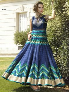 TOP COLOR: BLUE TOP FABRIC: PURE BHAGALPURI DIGITAL PRINT BOTTOM COLOR: BLUE BOTTOM: SANTOON INNER: BLUE INNER FAB: RAW-SILK SIZE: XL TYPE: HAND WORK GOWN BUST SIZE:MAX UPTO TOP LENGTH: 57 INCH PRICE: 116$- ONLY