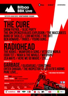 Bilbao BBK Live 2012 Announces Lineup Additions Including The Cure, Snow Patrol, Klaxons and More http://su.pr/2QuvcW