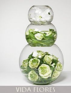 Fish Bowl stack, a little something different for each vase.